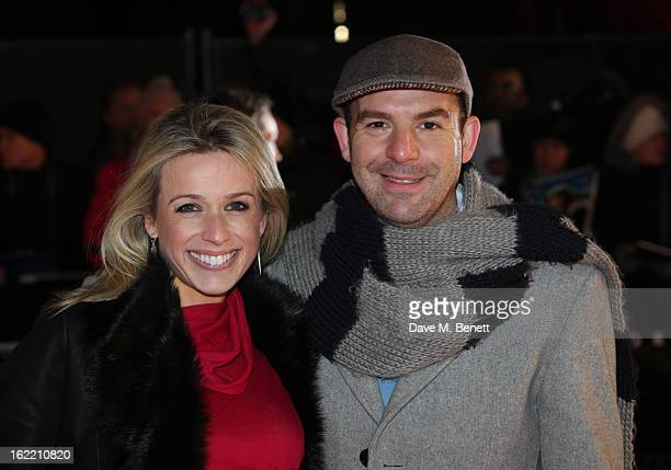 Martin Lewis and Lara Lewington attend the UK premiere of 'Arbitrage' at Odeon West End on February 20, 2013 in London, England.