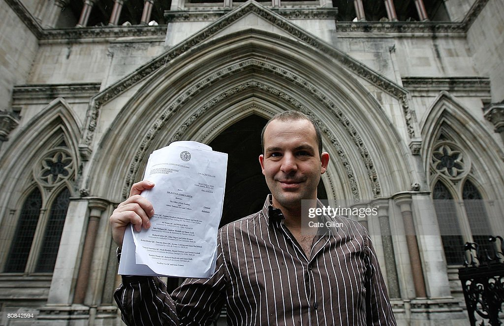 Martin Lewis of the website moneysavingexpert.com, holds a High Court judgement outside the High Court on April 24, 2008 in London, England. The money specialist reacted to UK's major banks losing a test case in the High Court over unfair bank charges.