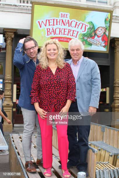 Tessa Aust attends the press conference for the musical 'Die Weihnachtsbaeckerei' at Schmidts Tivoli on August 17 2018 in Hamburg Germany