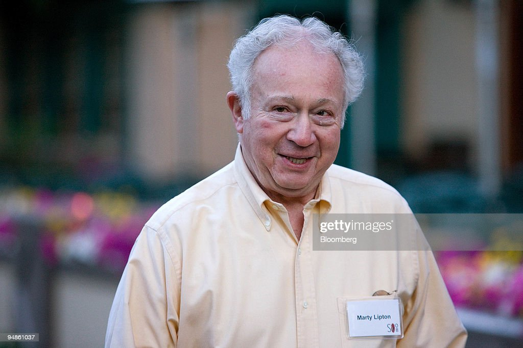 Martin Lipton Founding Partner Of Wachtell Rosen K News Photo