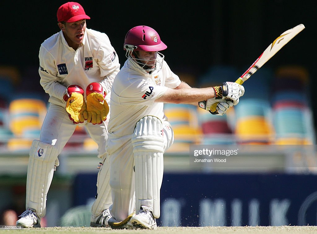 Martin Love of the Bulls in action during day 2 of the Pura Cup match between the Queensland Bulls and South Australia Redbacks on February 25, 2005 at the Gabba in Brisbane, Australia.