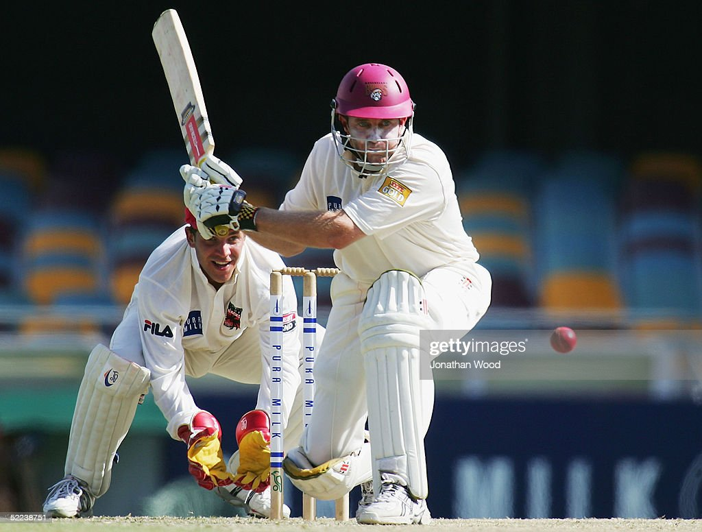 Martin Love of the Bulls in action during day 2 of the Pura Cup match between the Queensland Bulls and South Australia Redbacks at the Gabba, February 25, 2005 in Brisbane, Australia