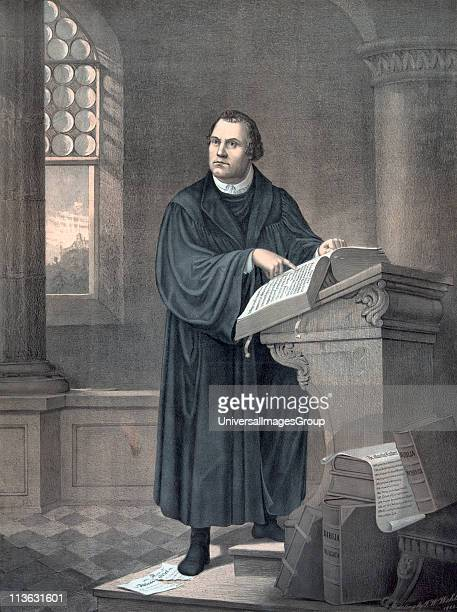 Martin Luther 1483 to 1546 German theologian After a 19th century lithograph