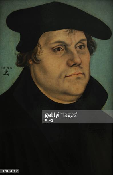 Martin Luther German monk icon of the Protestant Reformation Portrait by Lucas Cranach the Elder 1532 National Museum of Art Copenhagen Denmark