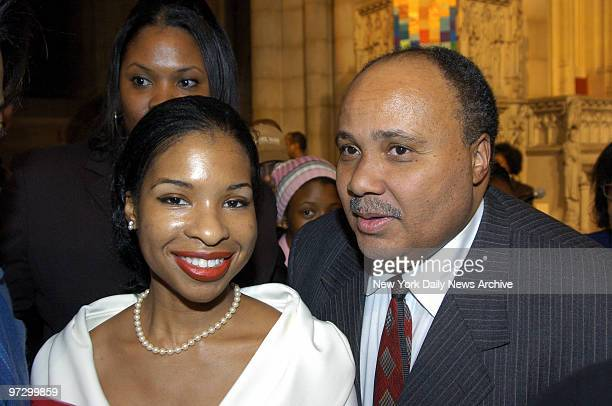 Martin Luther King 3rd and his fiancee Andrea Waters attend the Congress of Racial Equality's 22nd Annual Martin Luther King Ambassadorial Reception...