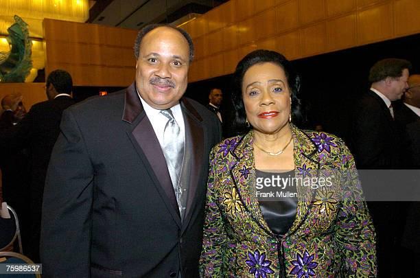 Martin Luther King III and Coretta Scott King