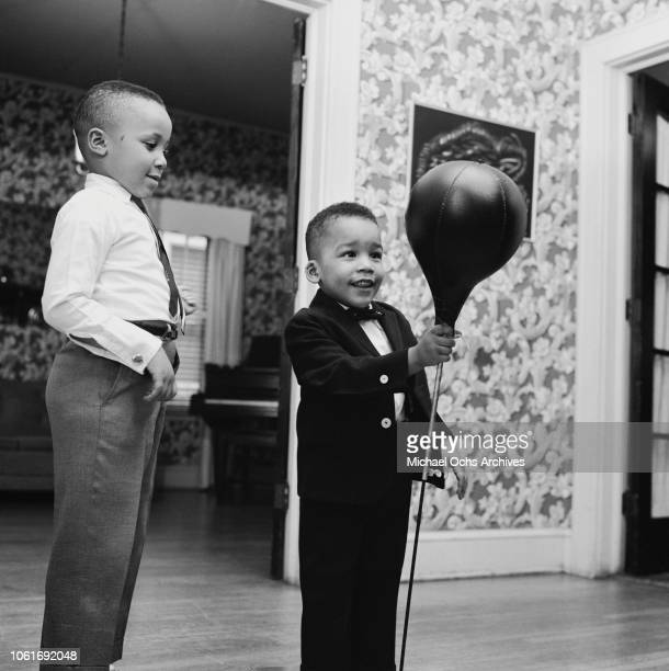 Martin Luther King III and Dexter the sons of civil rights activist Martin Luther King Jr and his wife Coretta Scott King February 1964