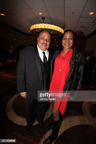 Martin Luther King III and Esaw Garner attend the 2016 NAN 'Keepers Of The Dream' Dinner And Awards Ceremony at Sheraton New York Hotel Towers on...