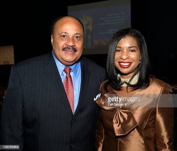 Martin Luther King III and his wife Andrea Waters King attend the Congressional Black Caucus Foundation's 41st annual legislative conference on...