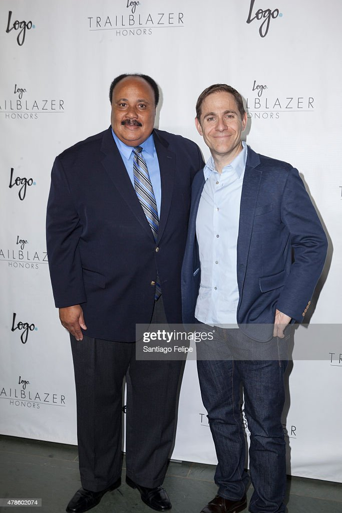 Martin Luther King III and Stephen Friedman attend Logo TV's 'Trailblazers' at the Cathedral of St. John the Divine on June 25, 2015 in New York City.