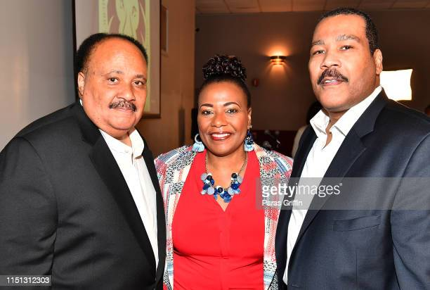 Martin Luther King III Dr Bernice King and Dexter Scott King attend The Redemption Project With Van Jones Atlanta Screening at Martin Luther King Jr...