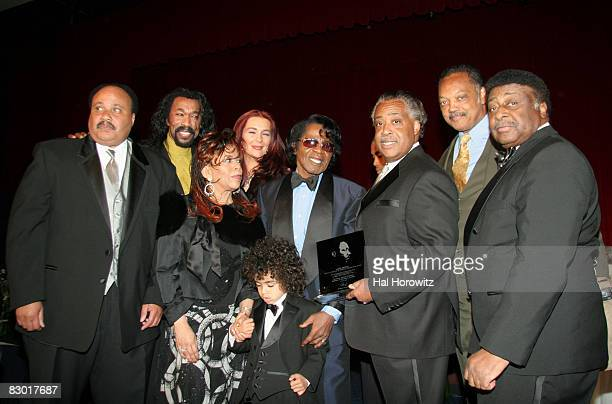 Martin Luther King III Nick Ashford Valerie Simpson Mrs James Brown James Brown and son Al Sharpton Jesse Jackson and James Brown's brother