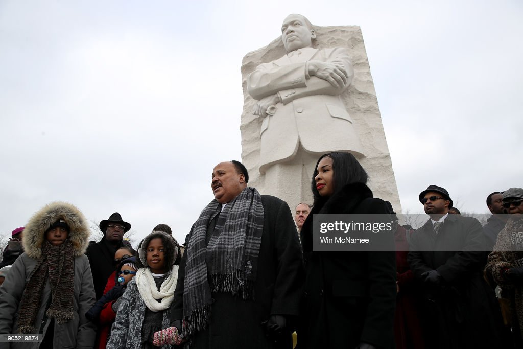 Martin Luther King III, Ryan Zinke Attend Wreath Laying At MLK Memorial In DC