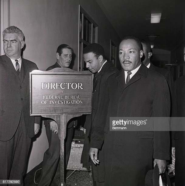 Martin Luther King Jr has arrived at the Federal Bureau of Investigation to speak with director J Edgar Hoover who has recently and publically called...