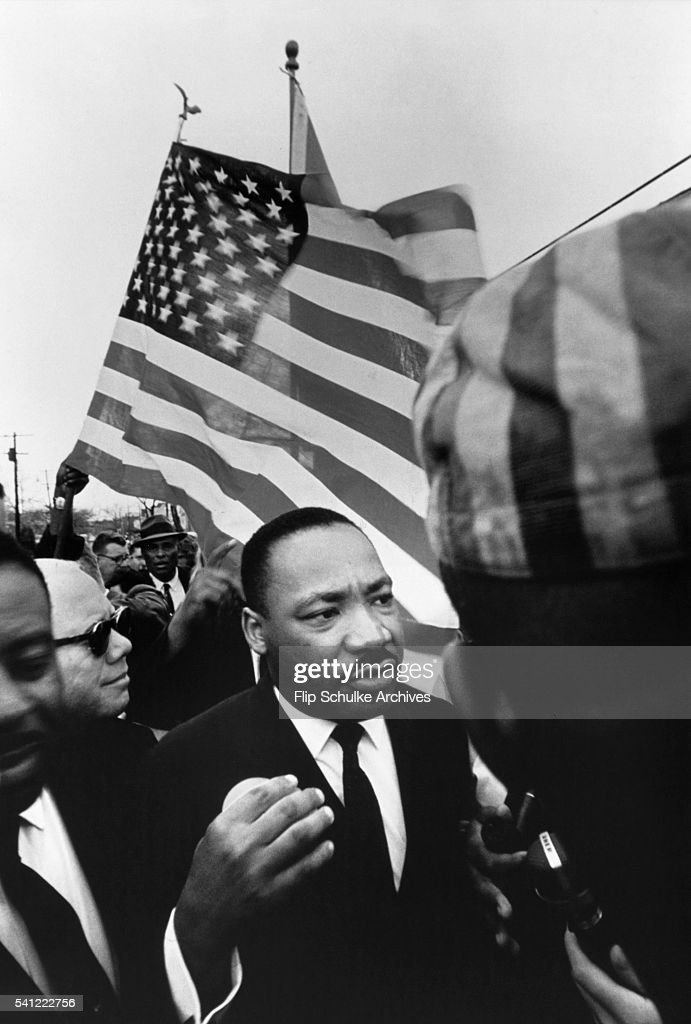 King Leading March in Alabama : News Photo