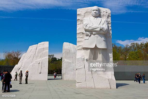 Martin Luther King Jr. Memorial, Washington DC. Clear blue sky.