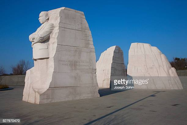 martin luther king jr. national memorial, a monument to civil rights leader, washington, d.c. - martin luther king jr. memorial washington dc stock pictures, royalty-free photos & images