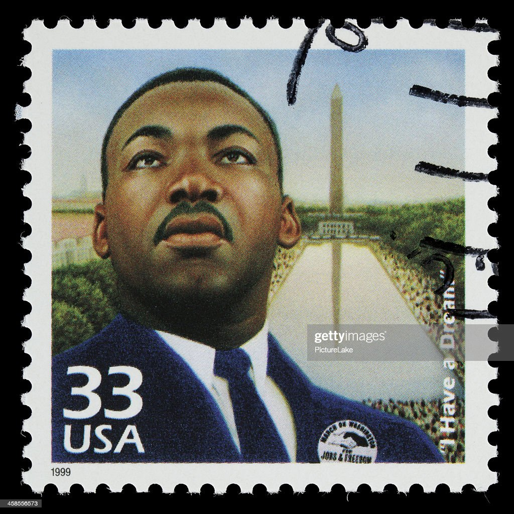 USA Martin Luther King Jr postage stamp : Stock Photo