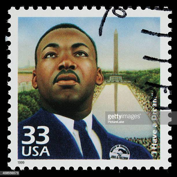 usa de martin luther king jr sello postal - black history fotografías e imágenes de stock