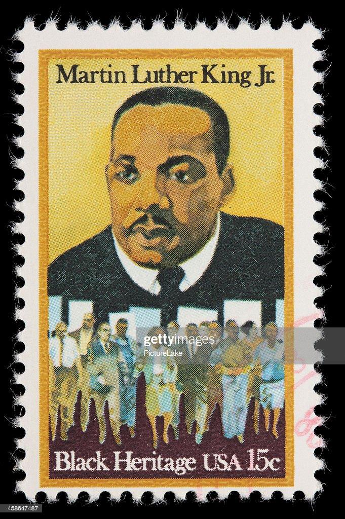 USA Martin Luther King Jr postage stamp : Stock Photo