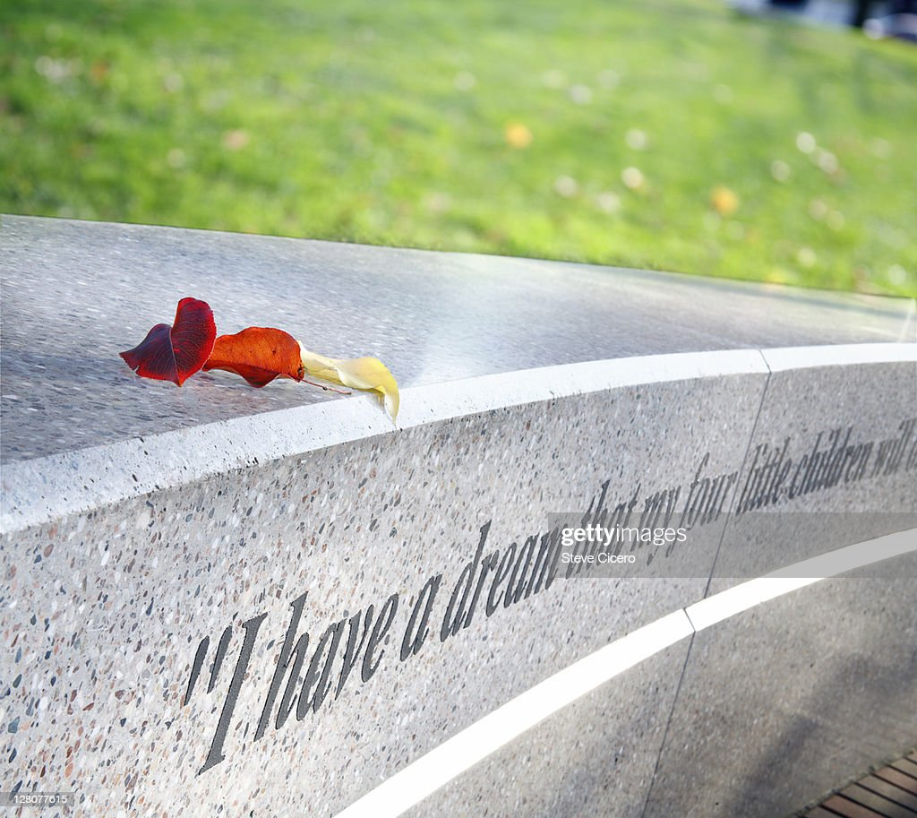 Martin Luther King Jr. quotation on memorial, Washington D.C. : Stock Photo