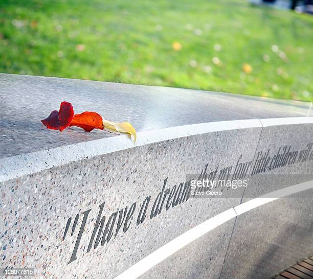 martin luther king jr. quotation on memorial, washington d.c. - black history month stock pictures, royalty-free photos & images
