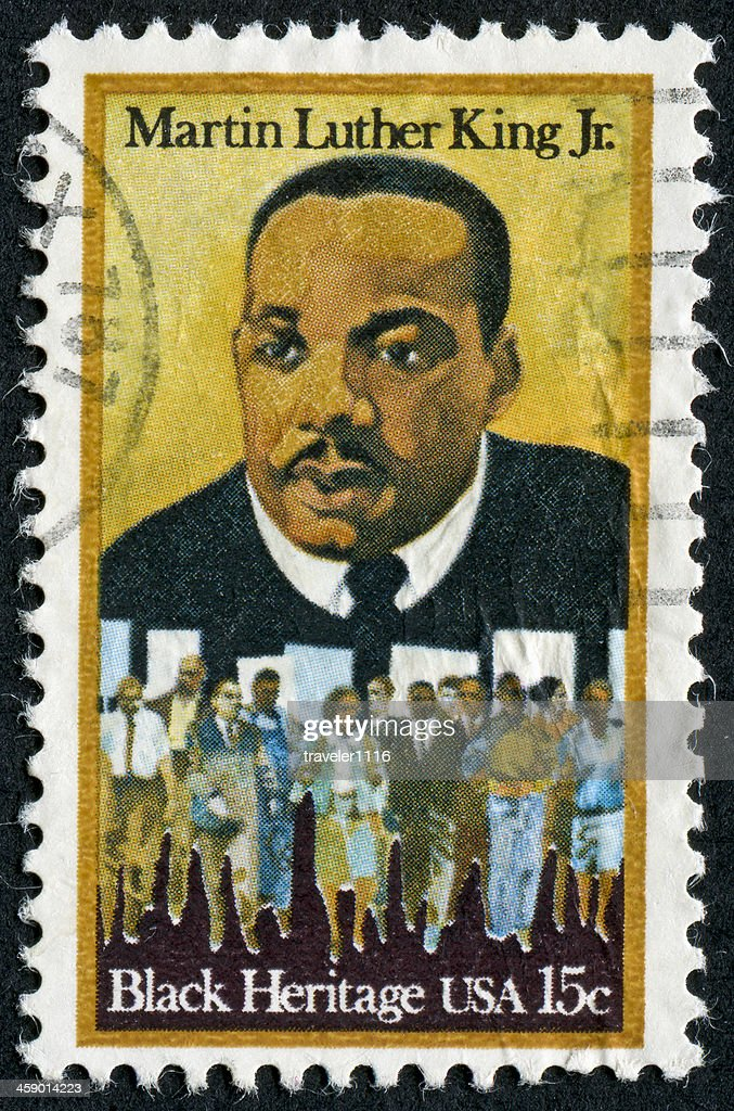 Martin Luther King Jr. Stamp : Stock Photo