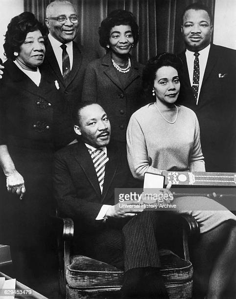 Martin Luther King Jr with Wife Coretta and Family Accepting Nobel Peace Prize 1964