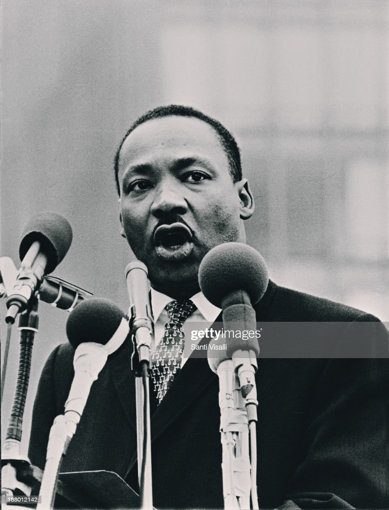 Martin Luther King Speaking : News Photo