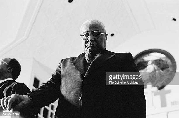 Martin Luther King Sr attends a memorial service for his son at Ebenezer Baptist Church where both served as pastor