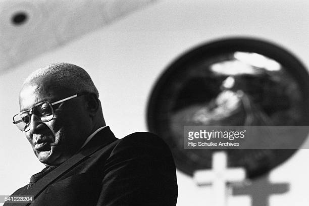 Martin Luther King Sr delivers a sermon at Ebenezer Baptist Church