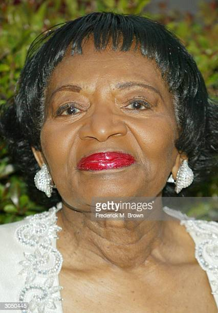 Martin Luther King's Sister Christine King Ferris attends the 35th Annual NAACP Image Awards on March 6 2004 at the Universal Amphitheatre in...