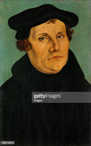 Martin Luther Oil on wood 1529 37 x 27 cm Inv 1160 [Martin Luther Gemaelde 1529]