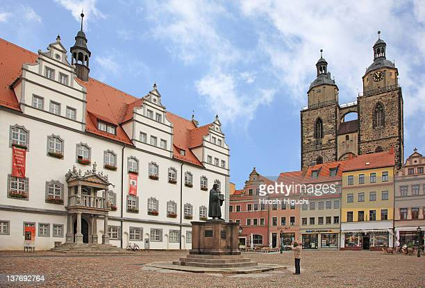 martin luther - lutherstadt wittenberg stock pictures, royalty-free photos & images