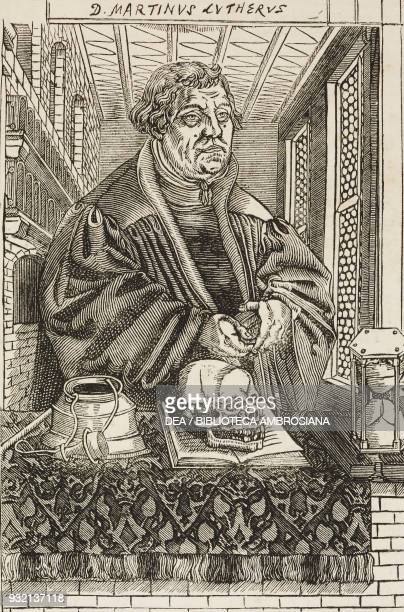 Martin Luther preaching illustration from The Graphic volume XXVIII no 727 November 3 1883