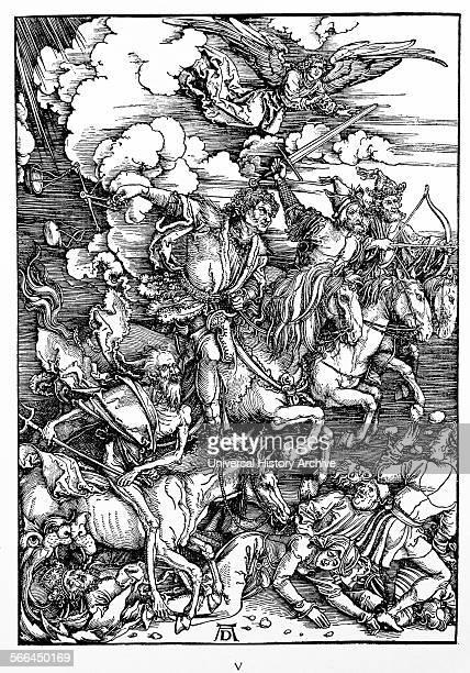 Preface to the Revelation of John Vorrede zur Offenbarung Johannes Apocalypse in figures Woodcut by Albrecht Durer The Revelation of St John 4 The...