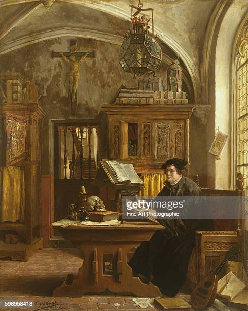 Martin Luther Translating the Bible Wartburg Castle 1521 by Eugene Siberdt