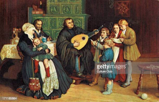 Martin Luther with his family by Gustav Spengenber German theologian religious reformer10 November 1483 18 February 1546 By Paul Poetzsch Reformation...