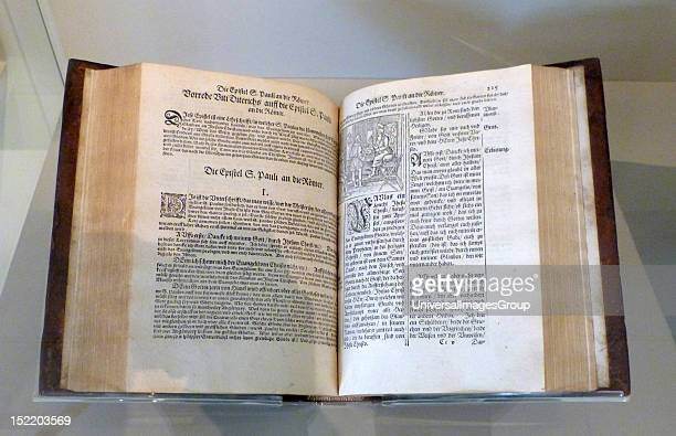 Martin Luther's translation of the new testament first published 1522 In the catholic church priests interpreted the Bible on behalf of the...