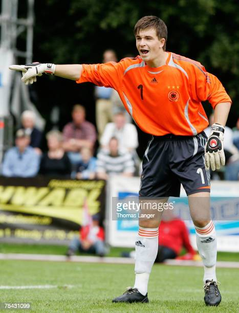 Martin Maennel of Germany in action during the U19 friendly match between Germany and Bavaria on July 12 2007 in Bad Reichenhall Germany