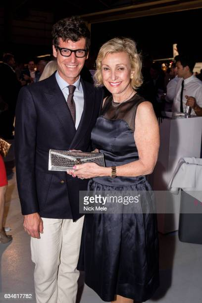 Martin Marks and Lana Marks at JET AVIATION'S 17th Annual LA BELLA MACCHINA at Palm Beach International Airport on January 26 2017 in West Palm Beach...