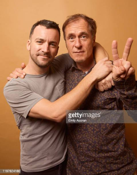 Martin Marquet and Hubert Sauper from Epicentro pose for a portrait at the Pizza Hut Lounge on January 24 2020 in Park City Utah