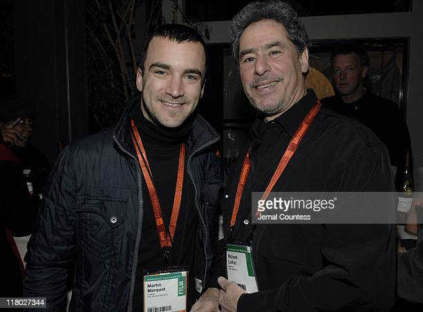 Martin Marquet and Richard Lorber during 2007 Sundance Film Festival World Cinema Party at The River Horse in Park City Utah United States
