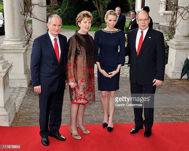 Martin McAleese, Irish President Mary McAleese, Charlene Wittstock and His Serene Highness, Prince Albert II Of Monaco attend a Reception at...