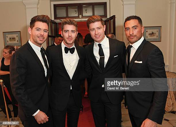 Martin McCafferty Alfie Palmer Andrew Bourn and Sean Ryder Wolf of Jack Pack attend a fundraising event in aid of the Nepal Youth Foundation hosted...