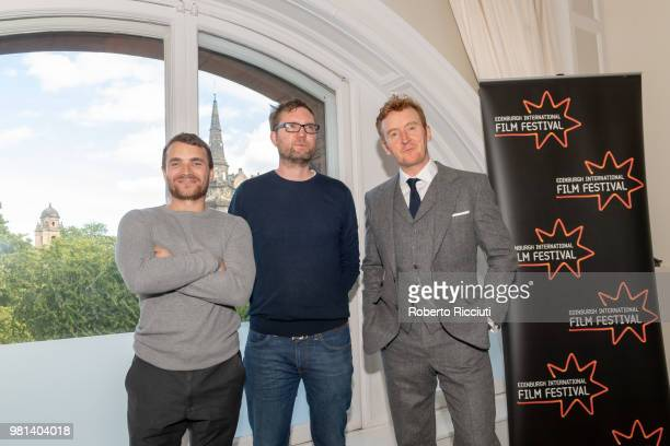 Martin McCann Matt Palmer and Tony Curran attend a photocall for the World Premiere of 'Calibre' during the 72nd Edinburgh International Film...
