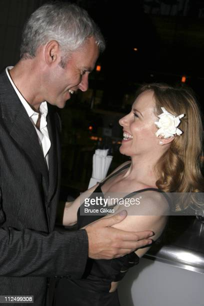 Martin McDonagh and Amy Ryan during A Streetcar Named Desire on Broadway Curtain Call and After Party at Roundabout Theater at Studio 54 in New York...