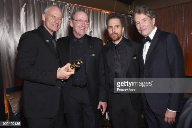 Martin McDonagh Richard Jenkins Sam Rockwell and Carter Burwell attend FOX FX and Hulu 2018 Golden Globe Awards After Party at The Beverly Hilton...
