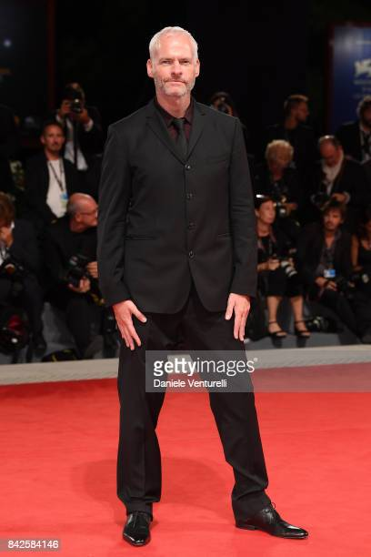 Martin McDonagh walks the red carpet ahead of the 'Three Billboards Outside Ebbing Missouri' screening during the 74th Venice Film Festival at Sala...
