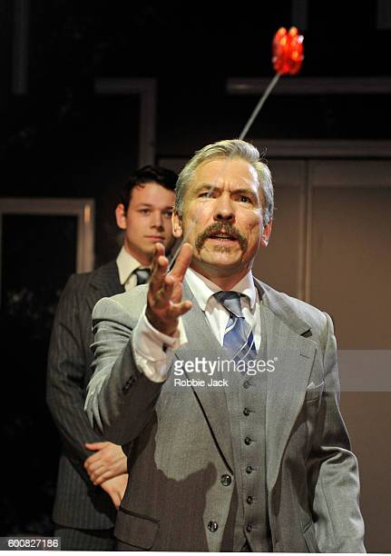 Martin McDougall as Howard and Sean Delaney as John directed by Anna Ledwich in Beth Steel's Labyrinth at Hampstead Theatre on September 6, 2016 in...